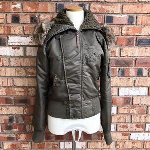 O'Neill Olive Green Parka Jacket Size L